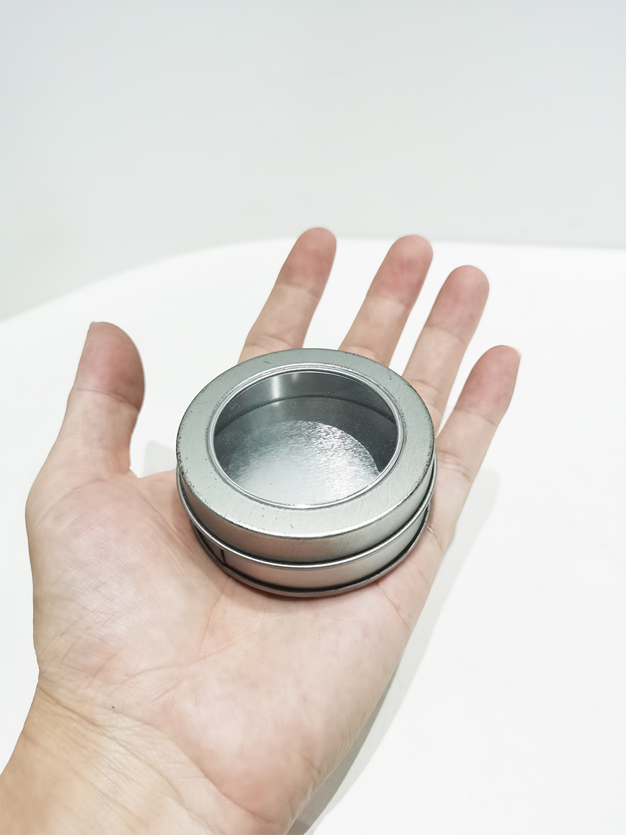 3.5 inch blank round small tin can