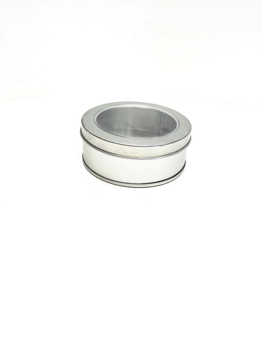 Open window blank round small tin can price
