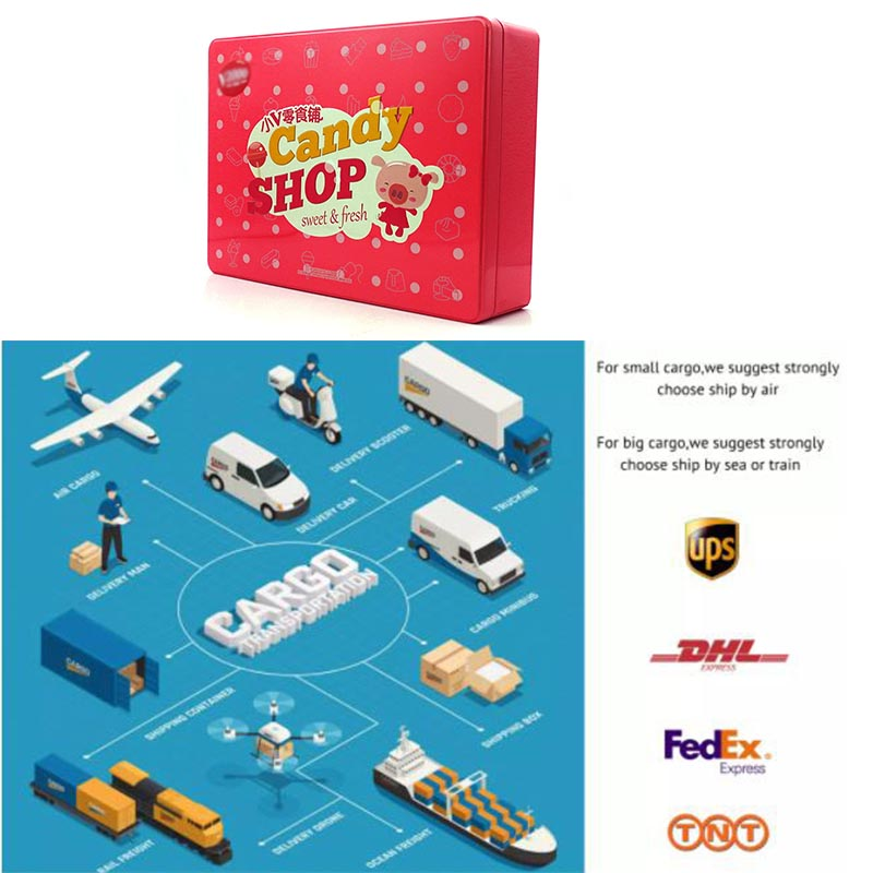 Children's gift candy tin box delivery method