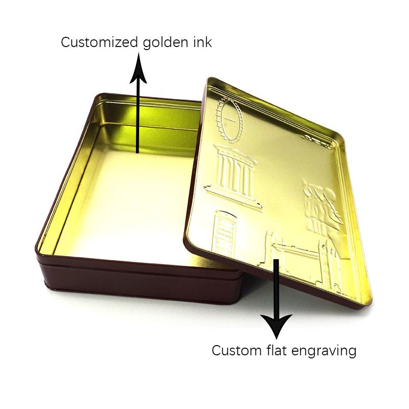 Custom British candy tin box