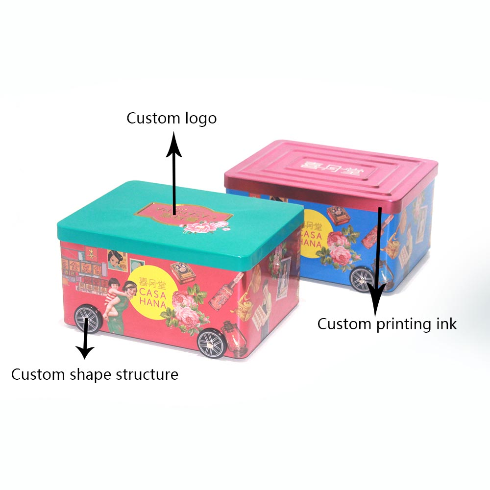 Custom car-shaped candy tin box