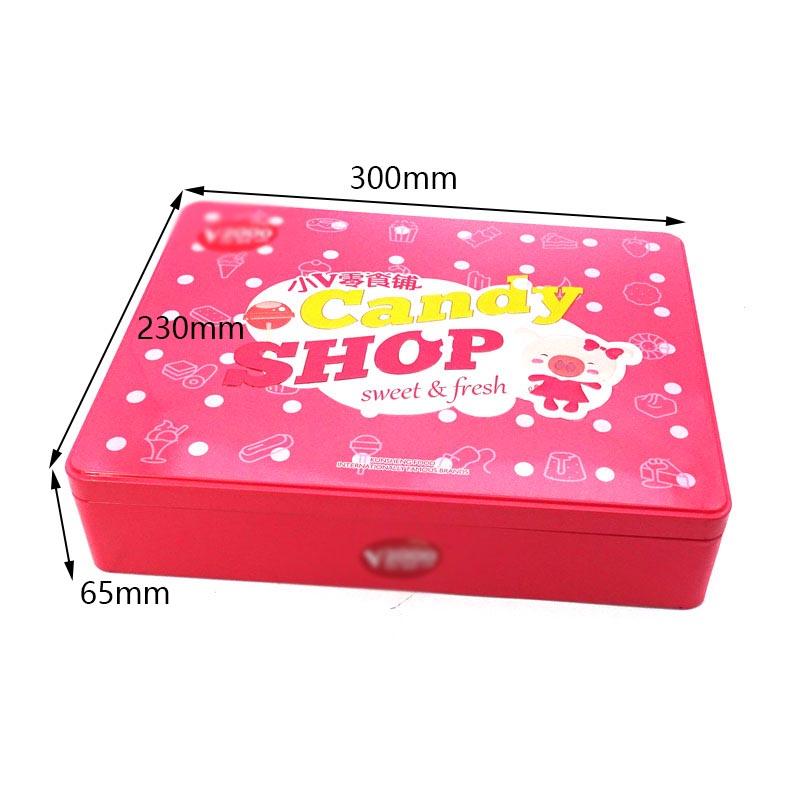 Custom children gift candy tin box size