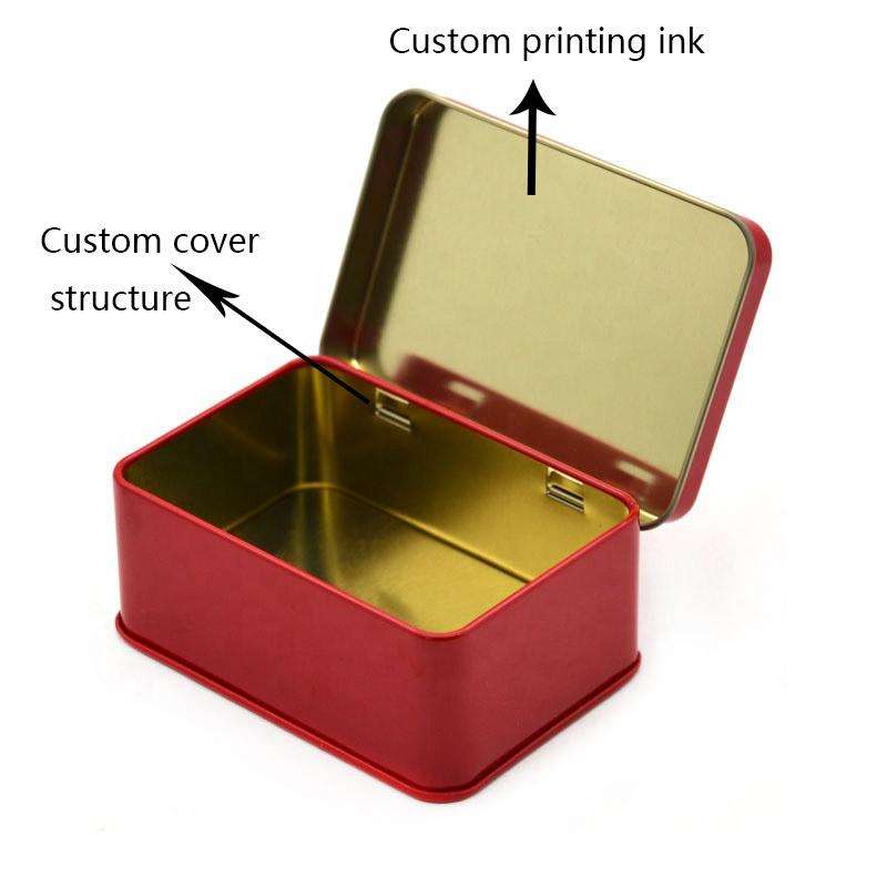 Custom hinged lid tin box