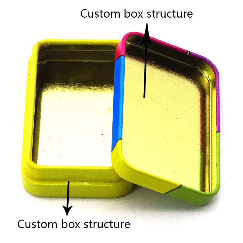 Custom printed mini candy tin box