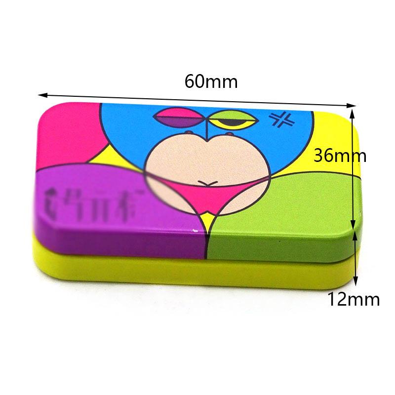 Custom rectangular candy tin box size
