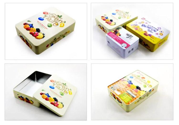 Custom rectangular fruit candy tin box series