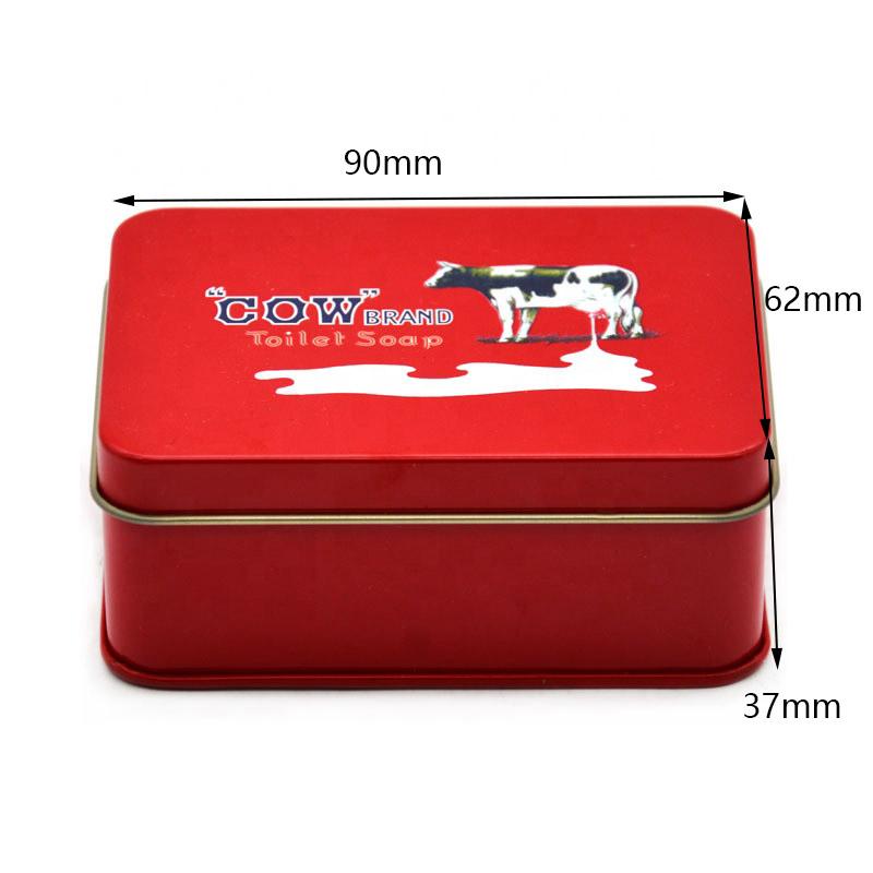 Customized hinge lid tin box size