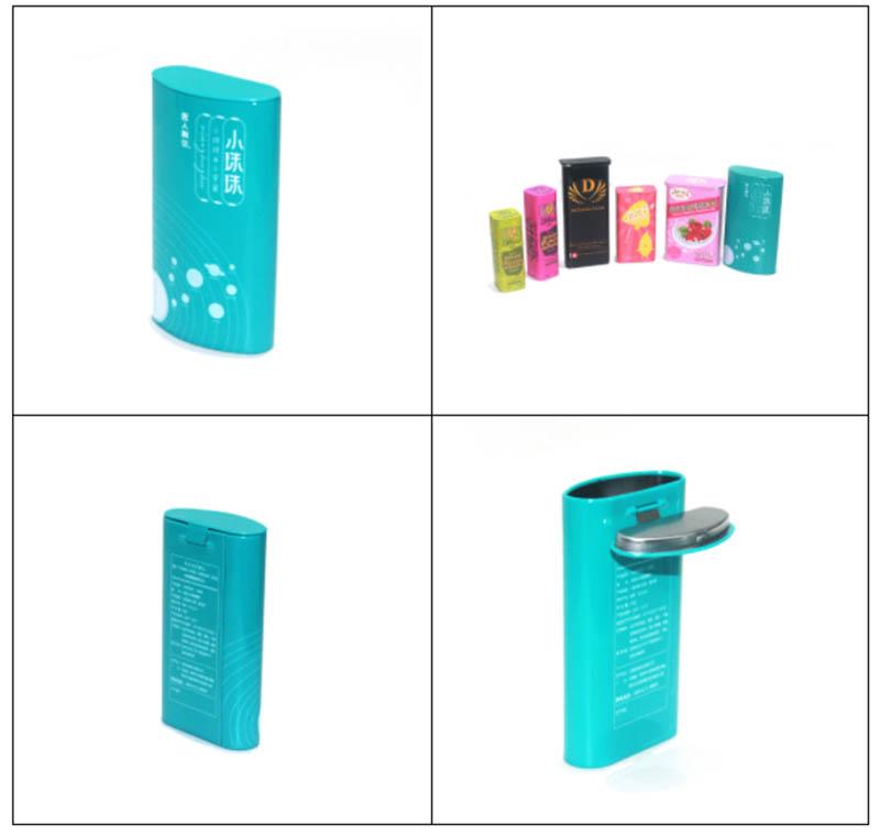 Customized hinged lid candy tin box series