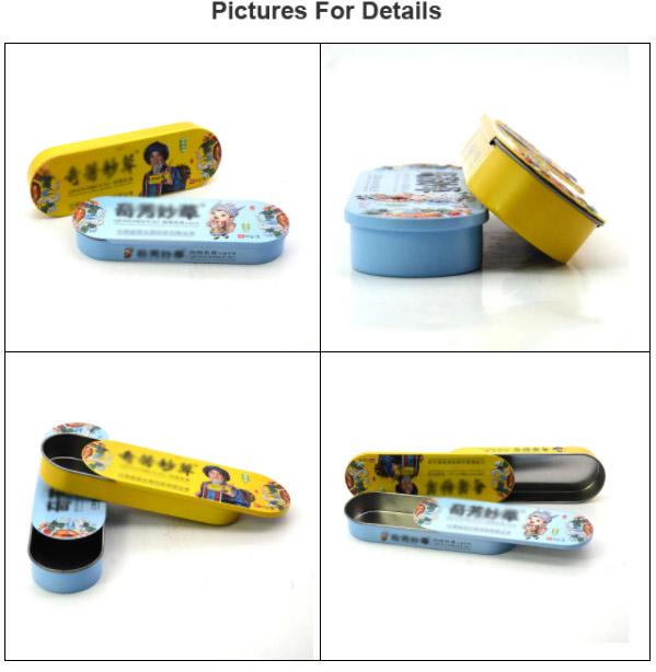 Mini portable medicine tin box series