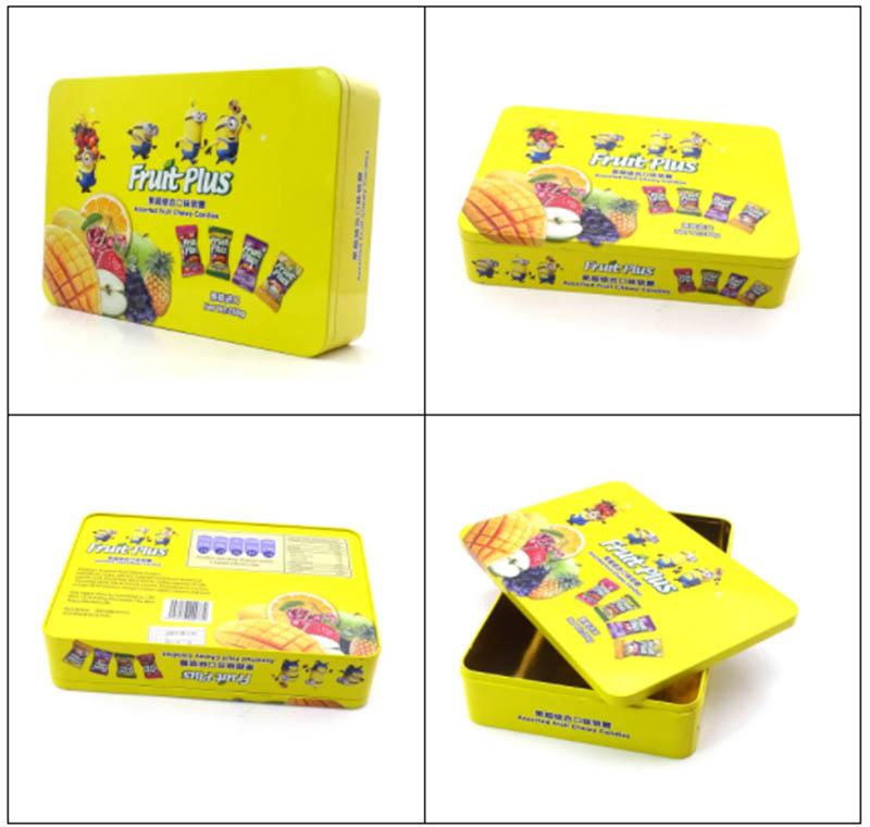 Fornecedor de caixas de lata de doces