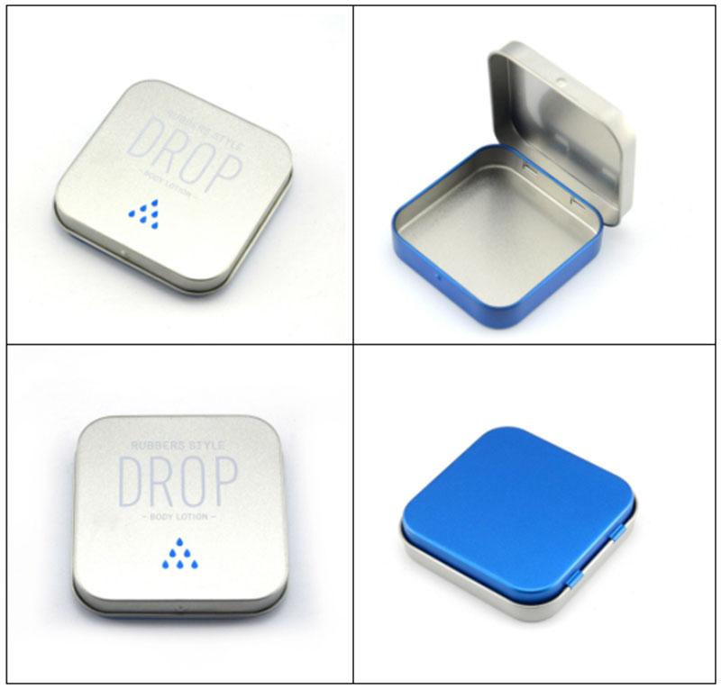 Small rectangular hinge mint tin box series