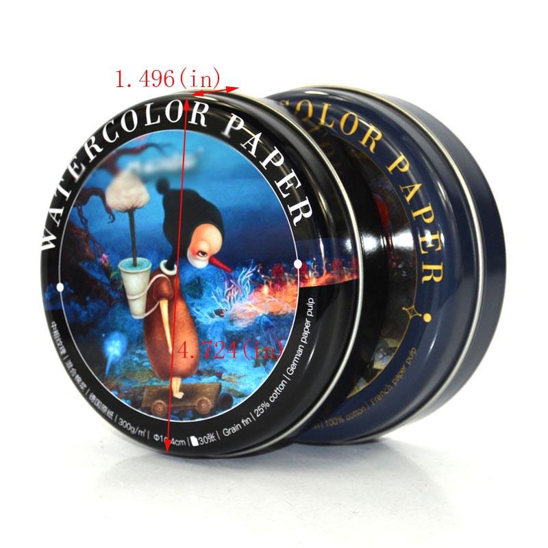 Round Martini Watercolor Storage Tin