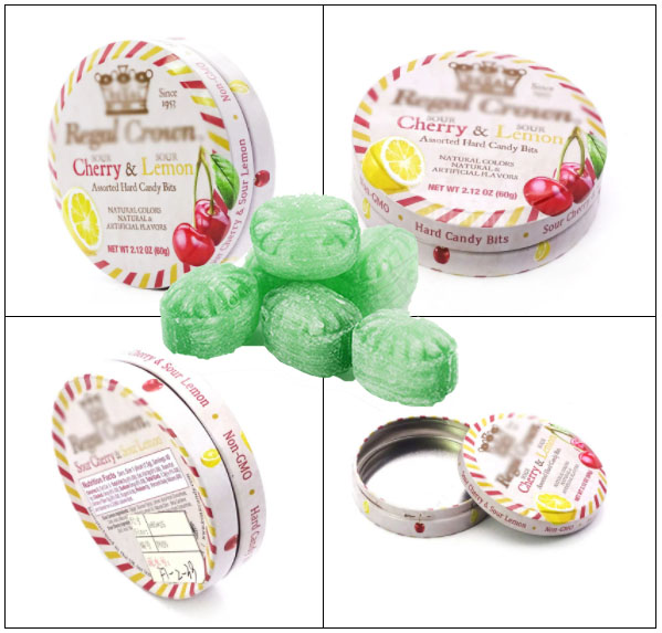 Round gift candy mint tin box series