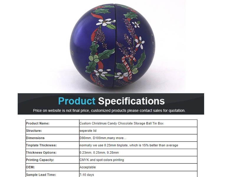 Parameters of embossed ball iron box