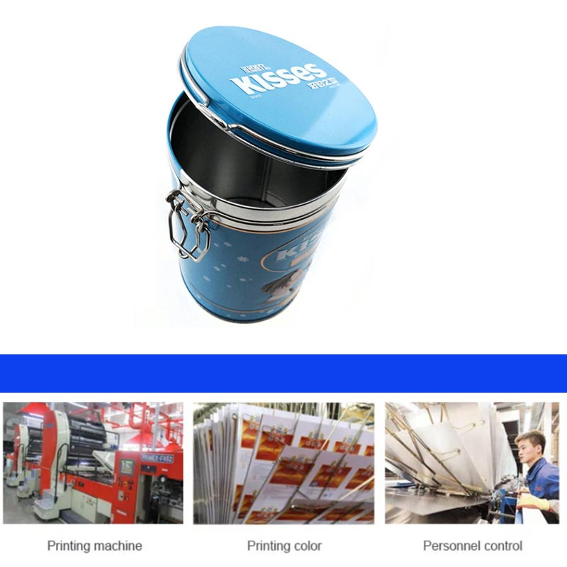 Printing cylindrical chocolate tin can