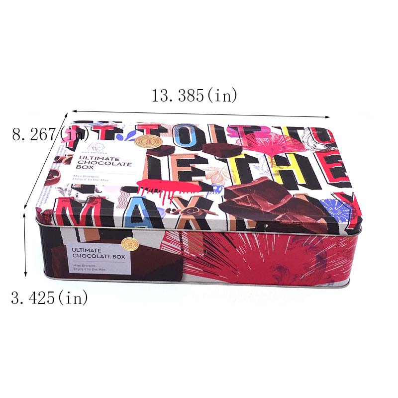 Valentine's Day Chocolate Packaging Tin Box Size