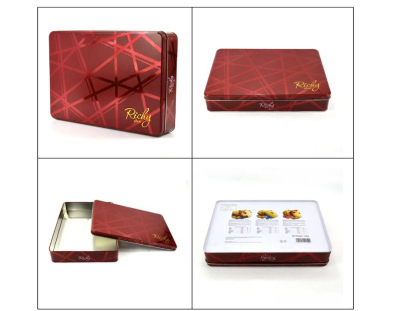 Custom large rectangular biscuit tin box