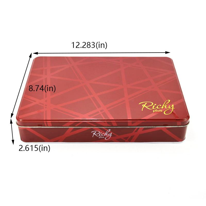 Large rectangular biscuit tin box size
