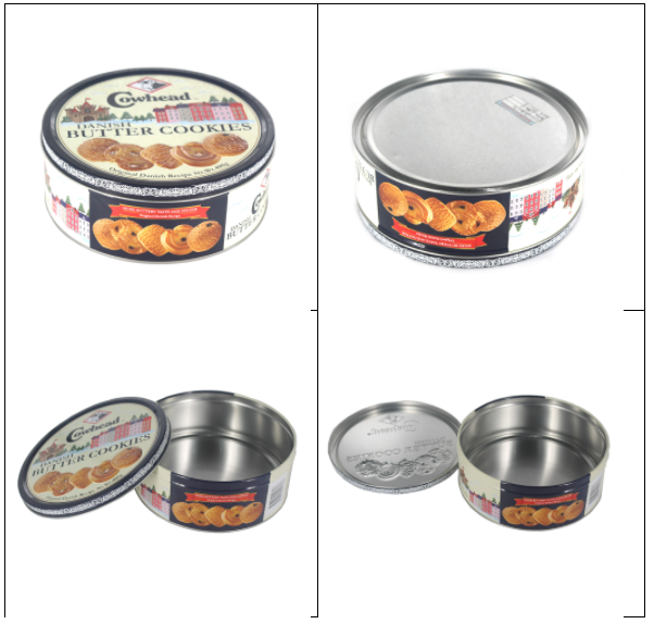 Custom round biscuit tin can series