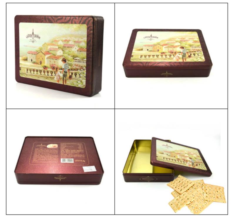 Wholesale rectangular biscuit tin box series