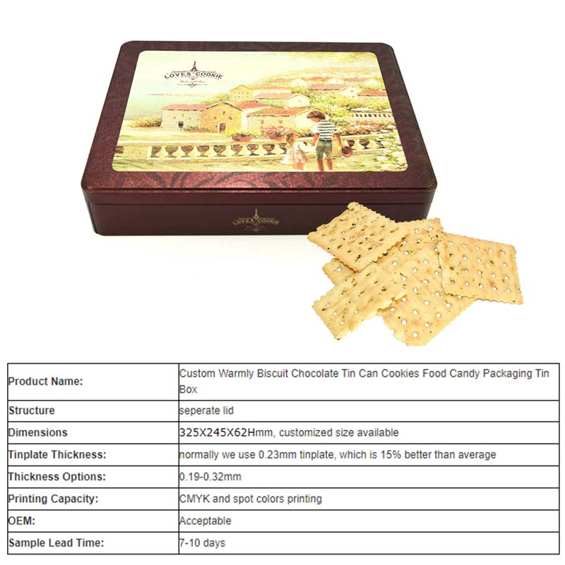 cookies Square tin box supplier