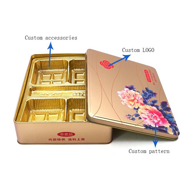 Customized beautiful mooncake tin box