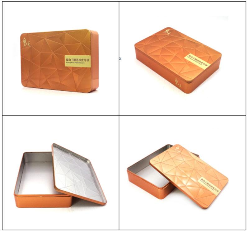 Прямоугольная металлическая коробка для упаковки пищевых продуктов