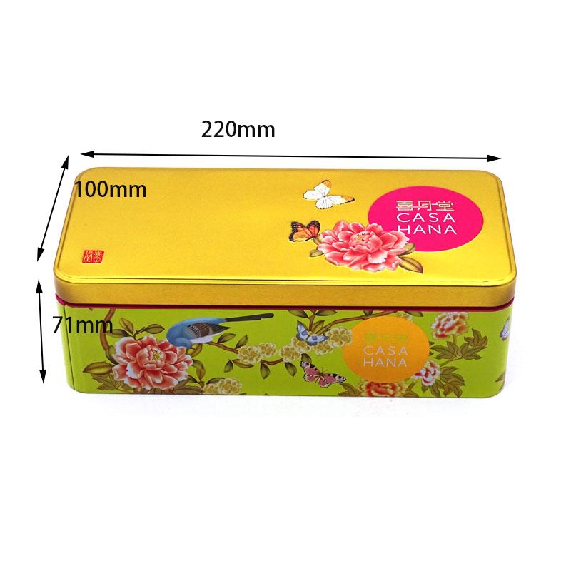 Rectangular food tin box size