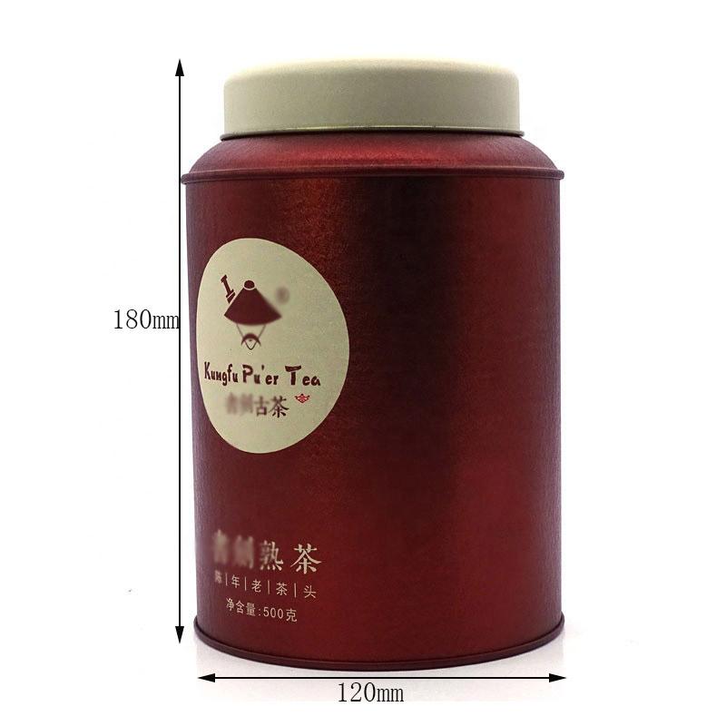 Custom dome lid tea tin can size
