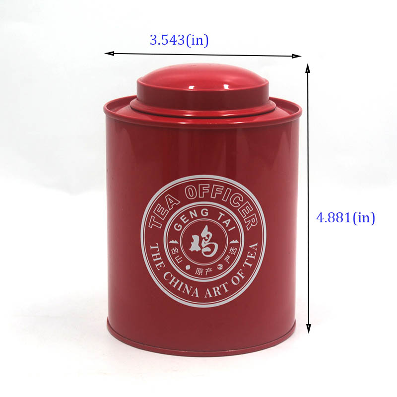 Customized high-quality metal tea can size