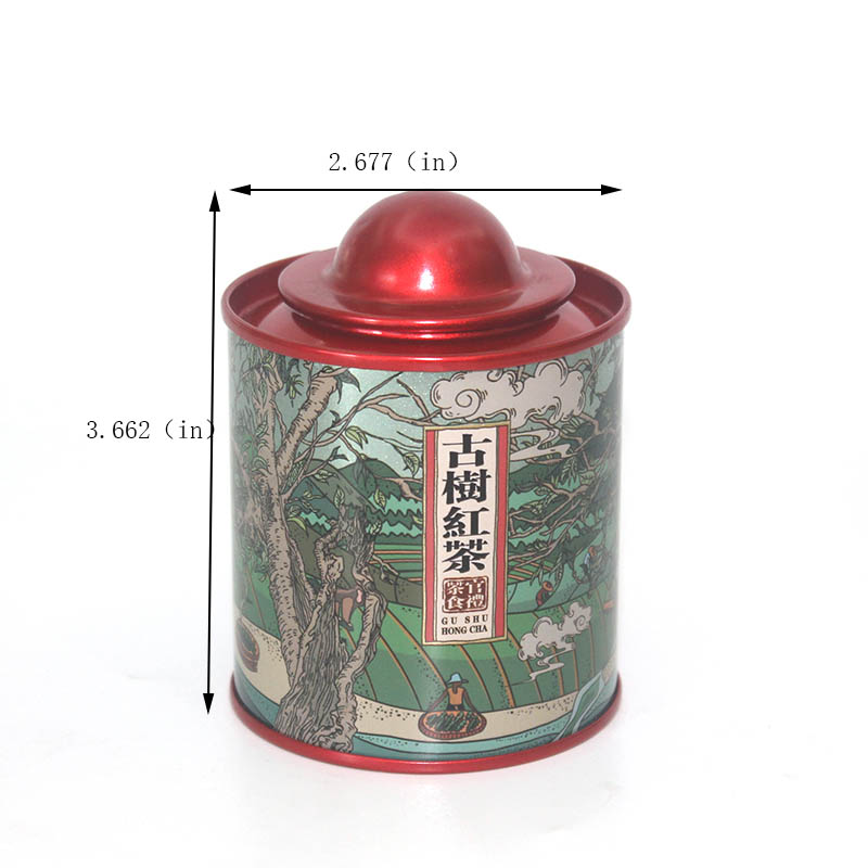 Size of Round Tin Tin Can with Lid