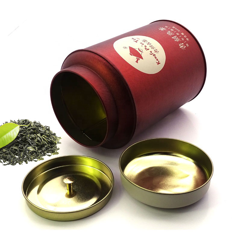 Wholesale round tea tin can