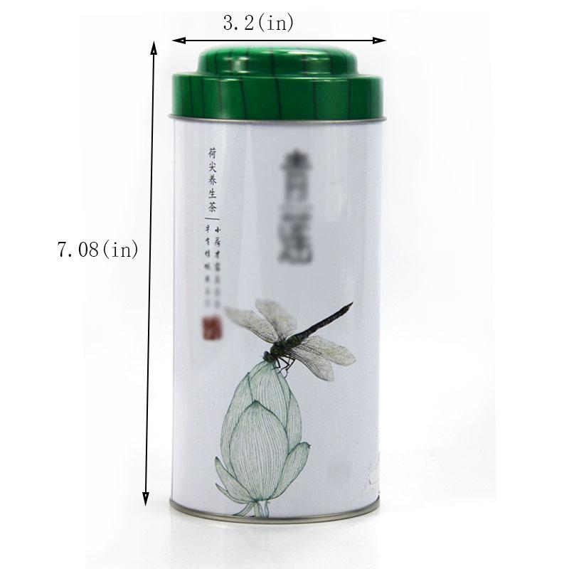 Best cylindrical tea tin can size