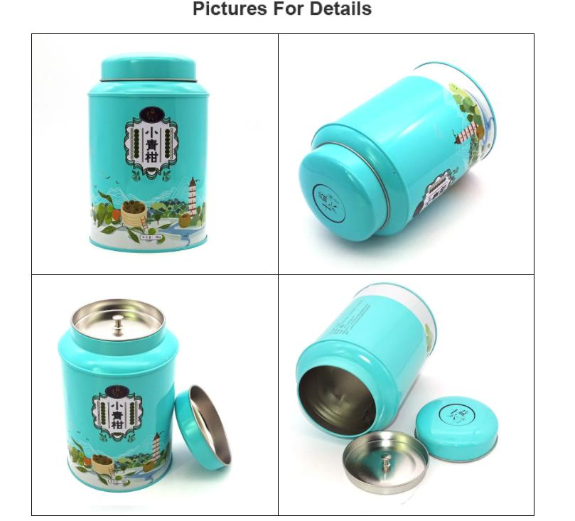 The best round green tea tin can display