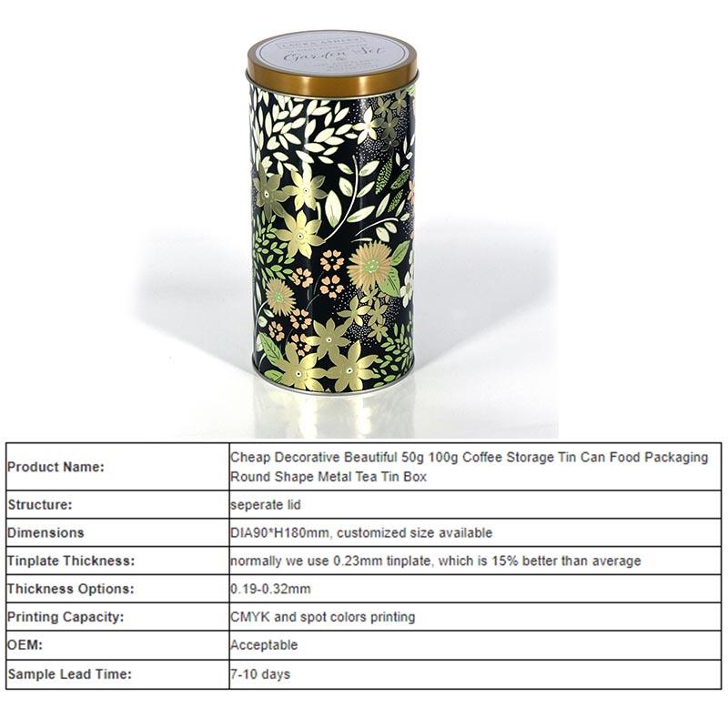 where to custom Round noveltea tins
