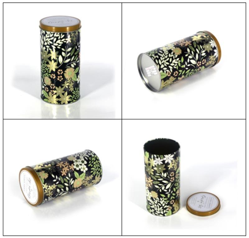 where to custom Round japanese tea tin