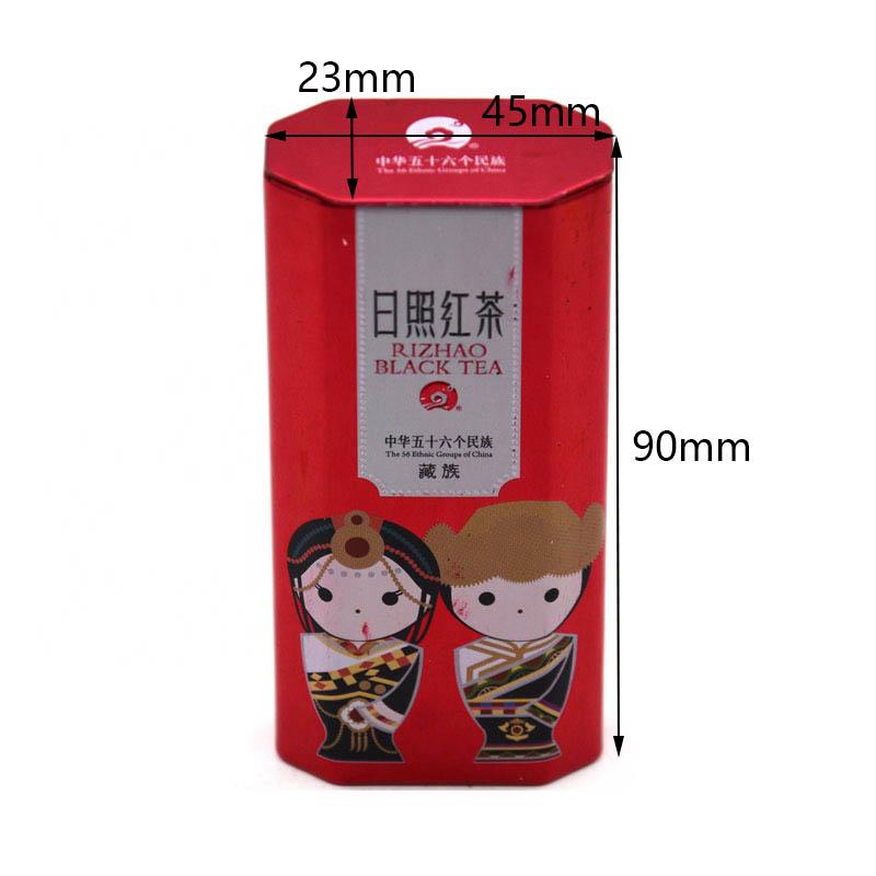 Custom irregular shape tea tin can size