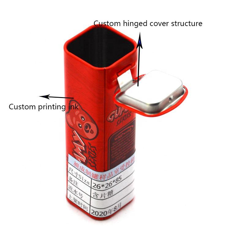 Custom red tea tin can