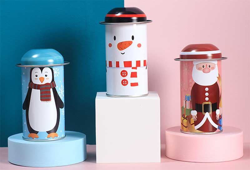 Christmas candy gift tin box packaging