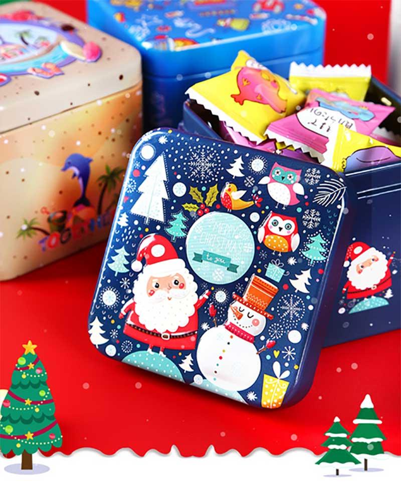 Christmas candy gift tin box