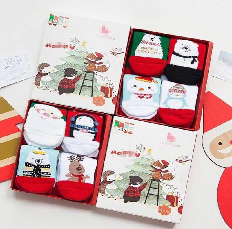Christmas stocking gift box