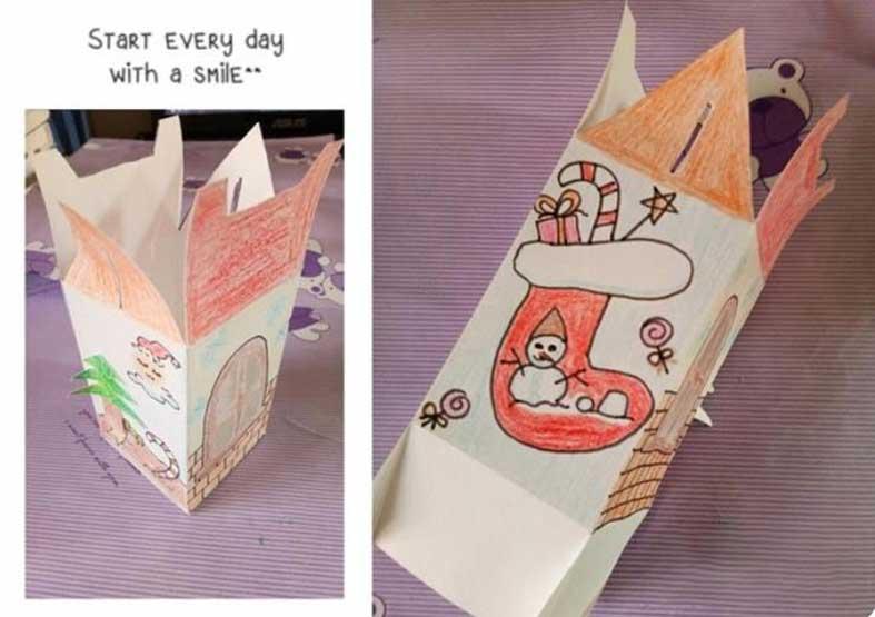 House shaped christmas gift box