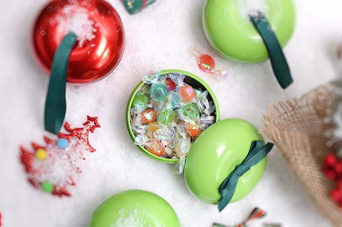 Christmas Eve gift candy tin box
