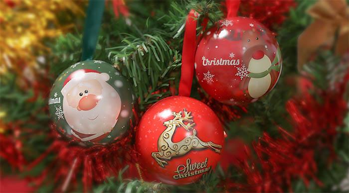 Christmas gift box candy iron ball series