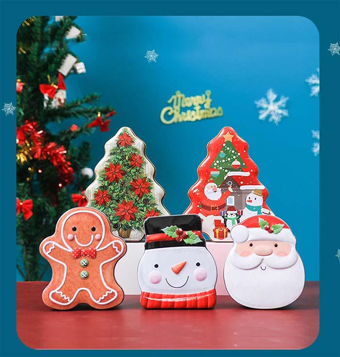 Christmas gift box candy tin box
