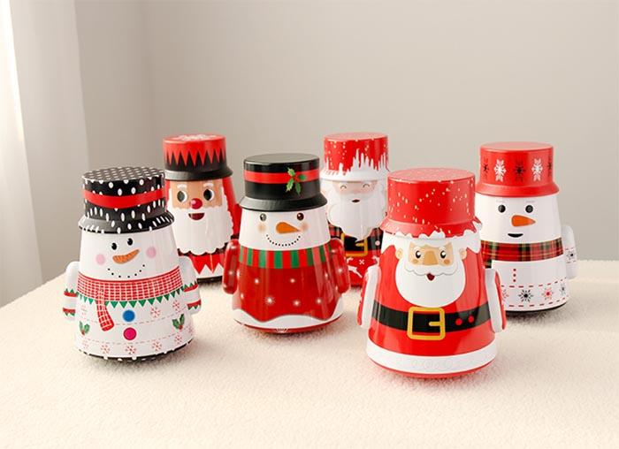 New tumbler Santa Claus storage tin box