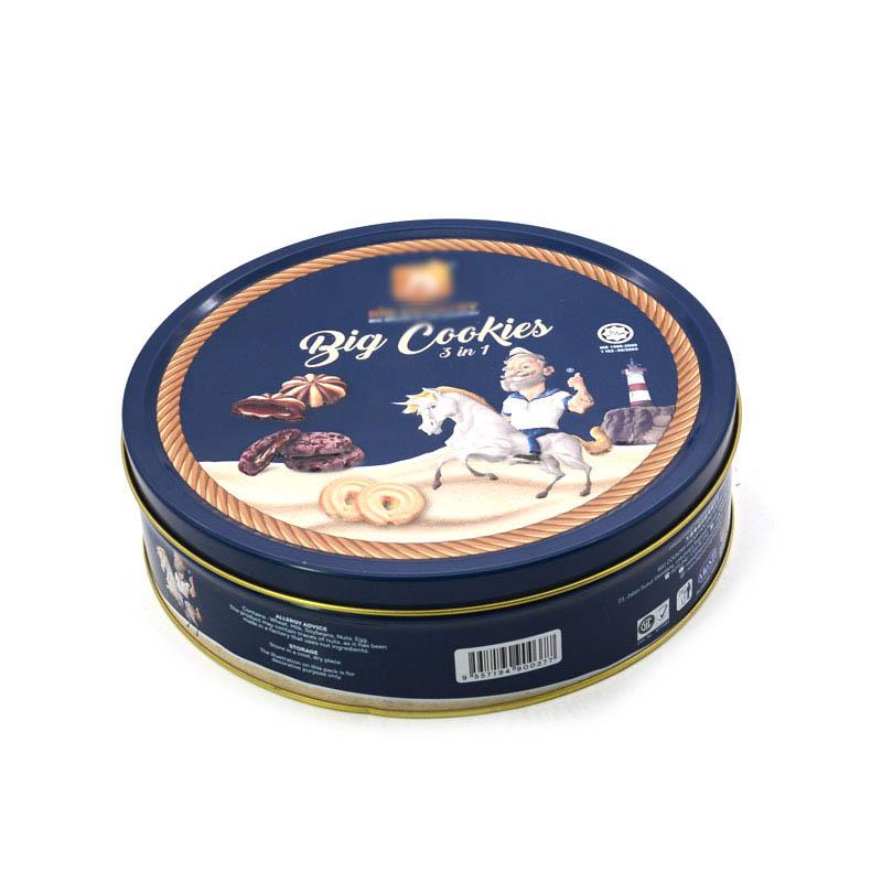 Custom food biscuit tin box