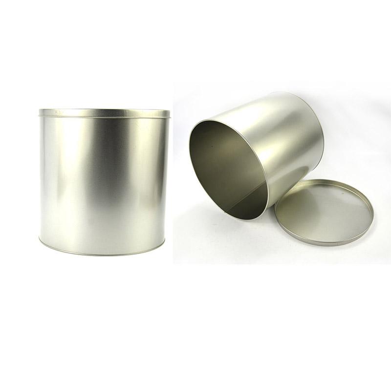Custom silver metal tins
