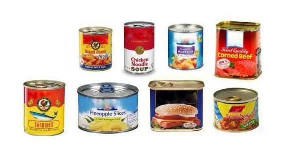 Meat food metal cans