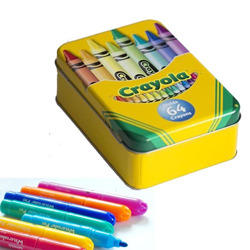 Rectangular Crayola Tin Box